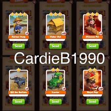 All 6 Tradable cards In China Coin Master trading cards !!Super Fast Dispatch!!