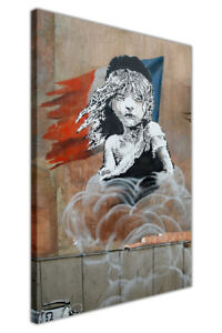 Les Miserables By Banksy on Framed Canvas Wall Art Pictures Home Décor Print