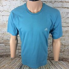 Vintage 90's Adidas Spell Out Crew Neck T-Shirt Top Blue Sz Large / L Mens