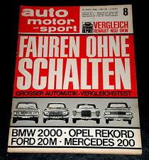AMS 08/66 NSU Renault 8 Major,DKW F 102,Alfa Romeo 1600 Spider,Mercedes-Benz 200