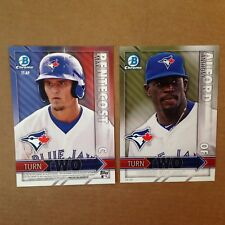 Anthony Alford / Max Pentecost Blue Jays RC #/49 made 2016 Bowman 5x7 Turn Two