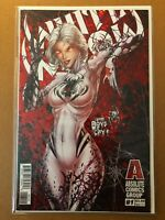 White Widow 1 (Red Foil cover) --(NM/MT condition)-- Absolute Comics 2018