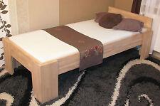 Vollholzbett Massivholzbett 90x200 Bettgestell Einzelbett Senioren Bett Fuß I