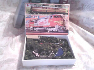 Train layout inside a Book !