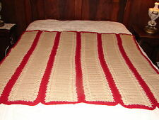 New Handmade Handcrafted Crochet Throw Blanket Afghan with Striped Design