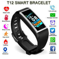 T12 Smart Watch Waterproof Bracelet Blood Fitness Tracker For Android IOS Gift