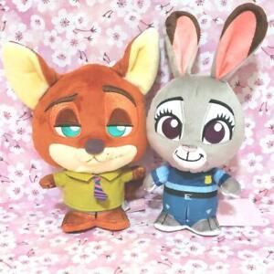 RARE Disney Zootopia Judy & Nick Moipon Plush doll SET Limited to JAPAN 6