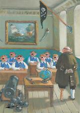 """Postkarte: Sowa - """"Piratenschule"""""""