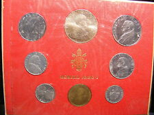 VATICAN 1963 MINT SET - WITH SILVER 500 LIRA - 8 COINS