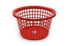 PLASTIC LAUNDRY BASKET - HIGH QUALITY - ROUND/RECTANGULAR - 5 COLOURS - WASHING