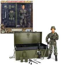 World Peacekeepers Locker Box 12in Poseable Army Action Toy Figure Play Set