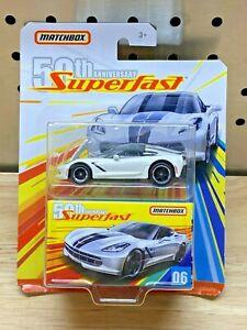 Matchbox '16 Corvette Stingray, 2019 50th Anniversary Superfast #06