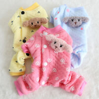 Cute Dog Warm Cotton Pajamas Pet Clothes Dog Clothing Soft Small Medium Dogs PJs