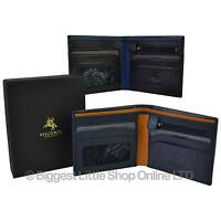 NEW Mens LEATHER Stylish Bifold WALLET by Visconti Parma GIFT BOX Change Paisley
