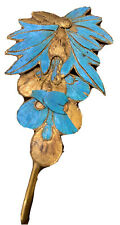 "Vintage Chinese Kingfisher Hairpin 3"" Long"