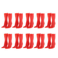 10 Pairs Fashion Design Doll Shoes High Heeled Boots For Dolls Red