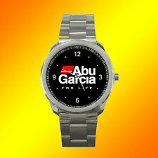 ABU GARCIA FISHING GEAR REEL ROD LOGO METAL SPORT WATCH NO T SHIRT