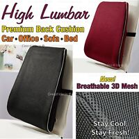 LUMBAR Lower BACK SPINE Support Cushion - Ache Pain Relief Office Car Seat Chair