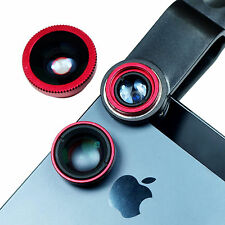 Universal Clip On Phone Lens - Fish Eye + Marco + Wide Angle Lens