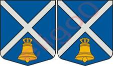 2x iecavas LATVIA coat of arms bumper stickers decals