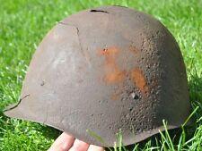 WWII USSR Soviet Russia Original War Damaged Relic Combat Helmet SSH-40