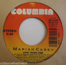 """MARIAH CAREY ~ Love Takes Time / Sent From Up Above ~ 7"""" Single USA PRESSING"""