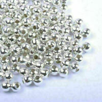 100pcs SILVER PLATED Round SPACER BEADS-Crafts_30MM Super Best New S4H2