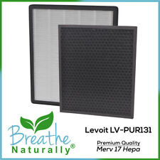 Levoit Lv-Pur131 Merv 17 Replacement Hepa + Carbon Filters for Levoit Purifiers
