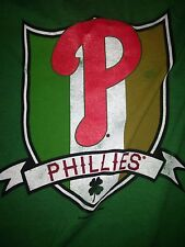 MLB Phillies St. Patrick's Day Irish Green Short Sleeve T-Shirt Size 3XL!!