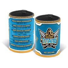 Gold Coast Titans NRL TEAM Can Bottle Cooler Holder Bar Man Cave Gift NRL003CP