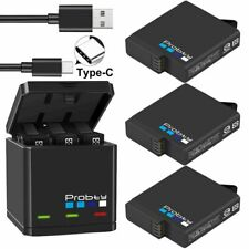 Camera Battery for GoPro Hero 7 6 5 Black Triple Charger Original Probty Supply
