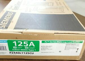 NEW Siemens P2440L1125CU Main Lug Load Center 125 Amp NEMA-1 24-Spaces 40-Cir VN