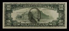 1988A SERIES FEDERAL RESERVE NOTE $10 RICHMOND E-A OFFSET ERROR OF FACE ON BACK