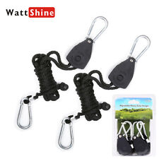 Rope Ratchet Hanger Hook Heavy Duty For LED Grow Light Carbon Filter Hydroponic