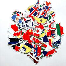 45Pcs National Flags Sticker Countries Map Decal Pack DIY Luggage Laptop Car Lot