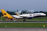 MONARCH AIRLINES TRIBUTE Fridge Magnet -  6x4 inches Airbus A330