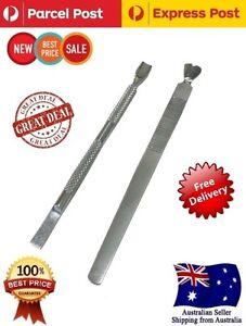 2Pcs Set Nail Cuticle Nipper Tool Spoon Pusher Remover Cutter Clipper Trimmer