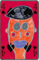 Original ACEO Painting / Drawing by Jay Snelling. Outsider Art Brut. Four