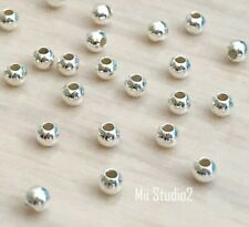 200x 2mm Sterling Silver plain high polish Round seamless bead spacer small S02s