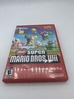 Super Mario Bros Wii (Nintendo Wii) Complete w/ Manual - Clean