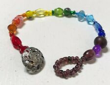 "Bracelet Beautiful Handcrafted Women Rainbow color beads 7"" Original"