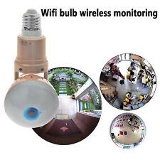 1080P Mini Security IP Camera 360° Panoramic SPY Hidden Wifi Wireless Light Bulb