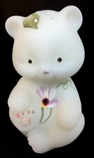 Fenton Art Glass Hand Painted Dew Drop Bear