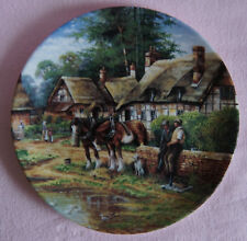 WEDGWOOD DECORATIVE PLATE - LUNCH BREAK, COUNTRY DAYS BY CHRIS HOWELLS HORSE DOG