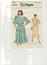 Top and Skirt  Very Easy Vogue Pattern No 8894 size 14-16-18