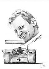 "Bruce McLaren A3 12""x17"" impresión"