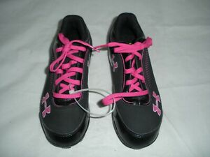 New Pink and Black Girls Under Armour Soccer Cleats Youth Size 2