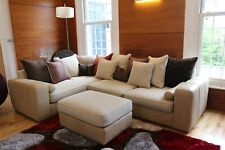 Barker and stonehouse corner sofa suite leather & fabric £3200new