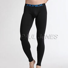 Mens Winter Soft Cotton Slim Thermal Underwear Bottoms Pants Long Johns Trousers