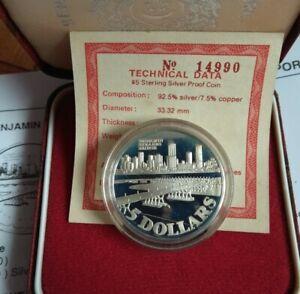 Singapore 1982 Bridge Commemorative Proof Coin